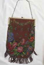 "ANTIQUE BEADED PURSE SIGNED LILLIAN McLEOD (11+"")"