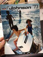 Catalogo motore motori Johnson fuoribordo engine nautica barca 1973