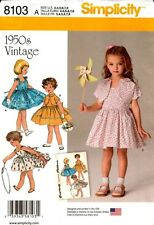 Simplicity Sewing Pattern 8103 Childs Dress, Jacket 3-8 NEW