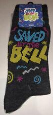 Saved By The Bell Crew Socks 2 Pair Mens 6.5-12 Dark Grey Zack Kelly Slater 90's