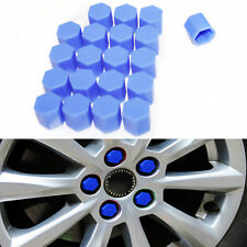 20 Silicone Caps Car Wheel 17mm Nut Bolt Covers For Peugeot 206 306 406 Blue