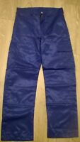 """Mens Royal blue combat cargo action work trousers knee pad pockets Waist 38"""" NEW"""