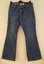 Mesdames GAP BLUE DENIM LONG & LEAN évasée jeans stretch Taille 10