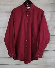 ETIENNE AIGNER Mens Maroon Button Down Dress Shirt 15.5  34/35