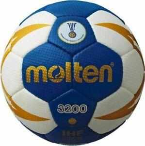 Molten Handball Größe 3 - 3200 - IHF geprüft - H3X3200 Blau Weiß