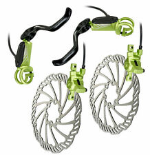 Helix 6 Hydraulic Disc Brakeset with rotor Front & Rear Green