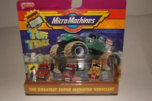 Micro Machines Tuff Trax Collection #6, Modified Pulling Trucks, Boxed