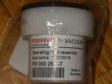 PFEIFFER Vacuum PM 063 265 -T Operating fluid reservoir - NEW.