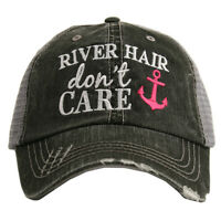 BASEBALL CAP- TRUCKER CAP -  RIVER  HAIR DON'T CARE  HAT -MESH HAT