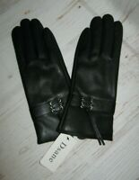 Dsane Women's Winter Black Leather Driving Gloves Size Small *New in Package*