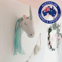 Soft Unicorn Stuffed Head Wall Hanging Decoration Accessory Kids Baby Nursery