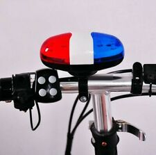 Bicycle Safety Light 4 Tone Sounds Bell Police Car Light Electronic Horn Siren