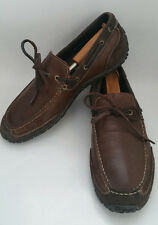 COLE HAAN NIKE AIR MENS 9 M BROWN LEATHER SUEDE BOAT SHOES DRIVING MOC LOAFER