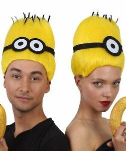 Men Mini Dave Wig Short Yellow Cosplay Wig Premium Breathable Capless Cap HM-334