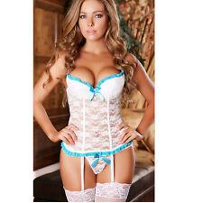 Babydoll Women/Girl Lingerie Nightwear Sleepwear Stocking Lace Dress G-string@xu