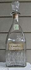 Vintage Gooderham & Worts, Canadian, whiskey back bar bottle decanter 1950's