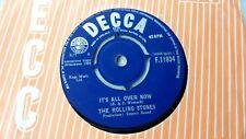 """THE ROLLING STONES 7"""" IT'S ALL OVER NOW b/w GOOD TIMES BAD TIMES UK DECCA 1964"""