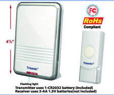 WIRELESS DOOR CHIME REMOTE CONTROL BATTERY POWER DOOR BELL 300FT RANGE 36 CHIMES