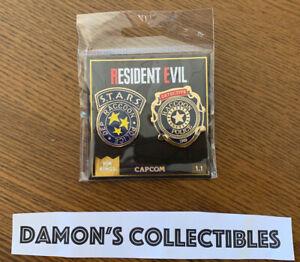 RESIDENT EVIL Pin Kings 1.1 Enamel Pin Badge Set NEW