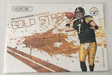 2009 Donruss Rookies & Stars Gold Stars Black BEN ROETHLISBERGER - Steelers #/50