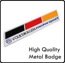 Brushed Aluminium VW German Germany Motorsport Badge Emblem Sticker Decal 109