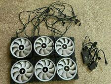 More details for corsair - ll120 rgb fans (x6) & lighting node pro / rgb fan hub (b)