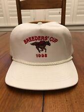 Vintage Breeders Cup 1998 Rope Snapback Hat White