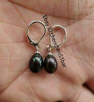 schöne kultiviert Schwarz Süßwasser perle ohrringe