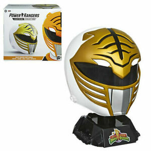 Power Rangers Lightning Collection Premium White Ranger Helmet Prop Replica MMPR