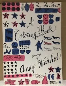 ANDY WARHOL - Original Vintage 1st Edition COLORING BOOK By ANDY WARHOL 1990