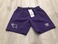 Umbro Derby County 2018/19 Away Shorts Kids 13-14 Years BNWT
