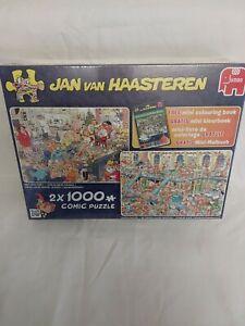 JAN  VAN HAASTEREN the 2x1000 piece jigsaw new year party & santas brand new