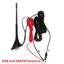 DAB + AM/FM Car Radio Antenna Universal Aerial Active Amplified Roof Mount Mast
