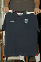 ENGLAND NATIONAL TEAM SOCCER JERSEY UMBRO 2XL THICK COTTON W COLLAR WORLD CUP