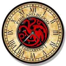 "10.5"" HOUSE TARGARYEN Pattern Wall CLOCK - Game of Thrones - 7146_FT"