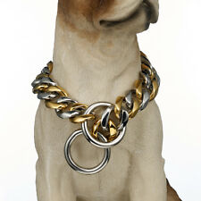 """Dog Puppy Training Collar Choke Curb Chain Stainless Steel Pet Collar 24"""" 19mm"""