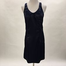 Richard Chai for Target dress blue satin unlined racer back side zip Size 7