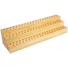 Wooden Makeup Brushes Holder Cosmetic Organizer Storage 123 Holes