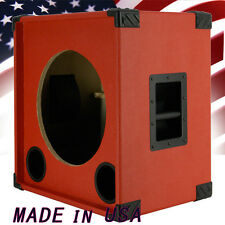 1X15 Bass Guitar Speaker Empty Cabinet Fire Hot Red Tolex 440LIVE BG1X15S
