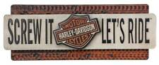 Harley-Davidson Screw It Let's Ride Metal Sign Art Decor HDL-15518