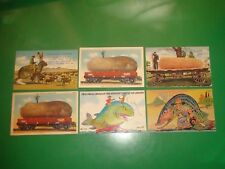 JB460 Vintage LOT of 6 Exaggeration Postcards Corn Fish Potato Rabbit