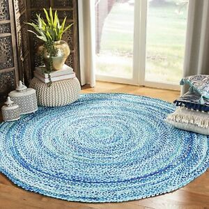 Rug 100% Natural cotton Style  Braided Reversible Rustic Modern Look Area Rugs