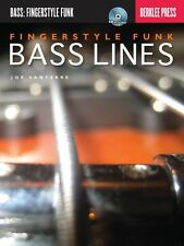 Fingerstyle Funk Bass Lines - Berklee Guide Book and CD NEW 050449542