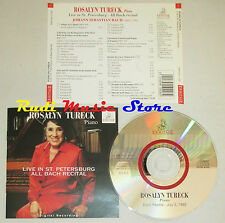 CD ROSALYN TURECK Piano live st petersburg all bach recital ERMITAGE lp mc dvd