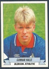 PANINI FOOTBALL 93 -#190-OLDHAM ATHLETIC & NORWAY-LILLESTROM-GUNNAR HALLE