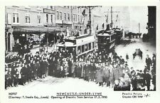 Tram Postcard - Newcastle-under-Lyme - Opening of Electric Tram Service   2548