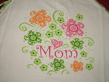"new Mothers Apron Flower Power Says ""Mom"" Nwot New"