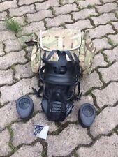 British Army UK MTP General Service Respirator Gasmaske mit Tasche und Filtern
