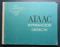 1971 Atlas of the Murmansk region Russian USSR Soviet Illustrated Book Album