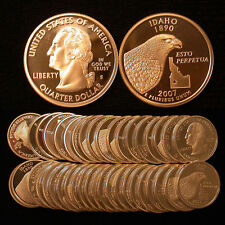 Roll of 40 2007-S Proof Idaho 90% Silver Quarters